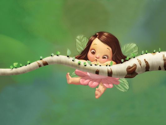 Free Wallpaper - A Young Fairy Anyone Would Like to Take in the Arms