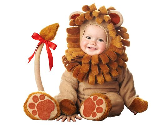 Free Wallpaper - Are You Scared of the Baby in the Lion Suit?,click to download