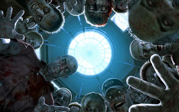 Free Wallpaper - Includes Dead Rising Zombies, Are You Scared?,click to download