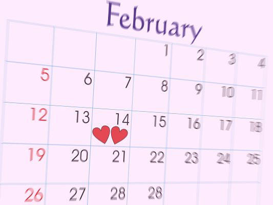 Free Wallpaper - Includes February Calendar, Wish Everyone Happy Valentine's Day!,click to download