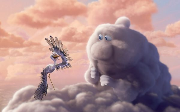 Free Wallpaper - Includes a Cloud and a Bird, and Their Admirable Friendship,click to download