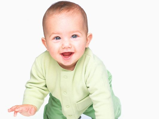 Free Wallpaper - Includes a Lovely Smiling Baby, Bound to Bring You Good Mood!