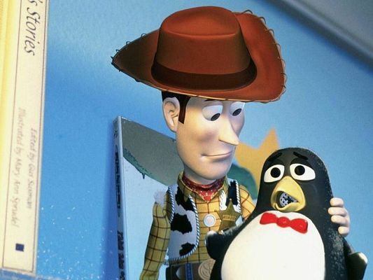 Free Wallpaper - Includes a Man and a Penguin, Caring for Each Other,click to download