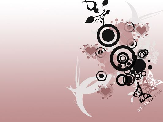 Free Wallpaper - Includes the Butterfly Heart Vector, Light and Beautiful!