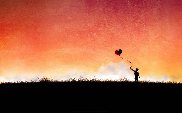 Free Wallpaper - Learn From the Young Boy and Fly Your Love!