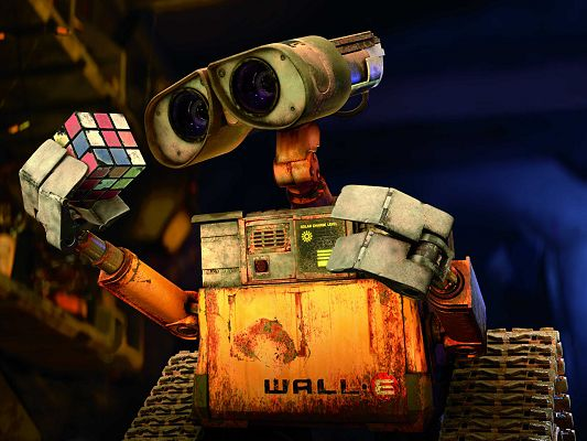 Free Wallpaper of Wall-E, the Most Loved Robot!,click to download