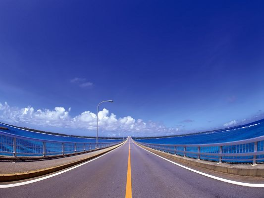 Free Wallpaper of a Long Long Road,click to download