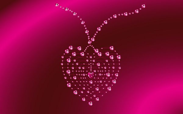 Free Wallpaper of a Pink Necklace