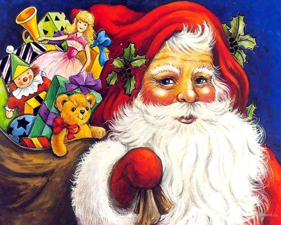 Free Wallpaper: Santa Claus Is Coming