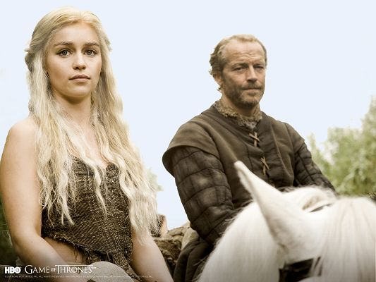 click to free download the wallpaper--Game Of Thrones HBO Post in 1600x1200 Pixel, Beautiful Girl with His Father, in Marriage Age, Will be Listening to Her Father - TV & Movies Post