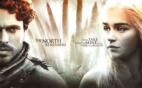 click to free download the wallpaper--Game of Thrones New Season Post in 2880x1800 Pixel, Both the Two Are Good in Outlook, When They Unite, the Effect is Incredible - TV & Movies Post