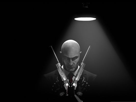click to free download the wallpaper--Games Picture - Hitman Absolution in Agent 47, Ready to Fight