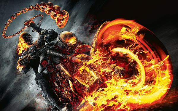 Ghost Rider in 4000x2500 Pixel, an Immortal Guy, Motor Car is on Fire, He is Large and Good-Looking Enough to be a Great Fit - Ghost Rider TV & Movies Wallpaper