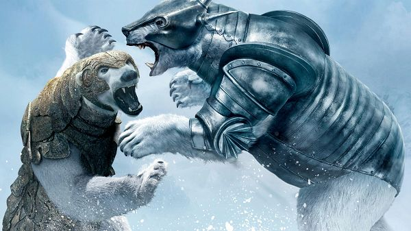 click to free download the wallpaper--Golden Compass Bear Fight in 1920x1080 Pixel, Facial Expression Reveals Cruel and Bitter, Mind Your Safety When You Stand to Watch - TV & Movies Wallpaper