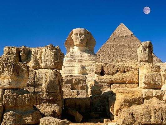 click to free download the wallpaper--Great Sphinx Giza Egypt HD Post in 1600x1200 Pixel, a Gift from Mother Nature, It Shall Touch One's Bottom of Heart - HD Natural Scenery Wallpaper