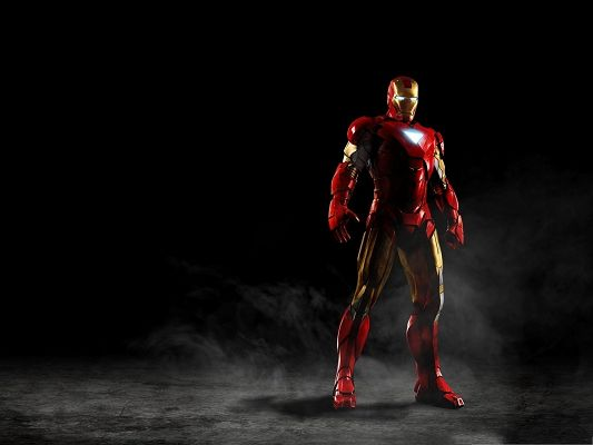 click to free download the wallpaper--HD Films Poster, Iron Man in Stand, He Shall Always Fight