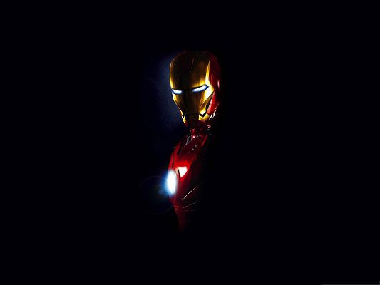 HD Movie Posters, Iron Man with Bright Eyes and Heart