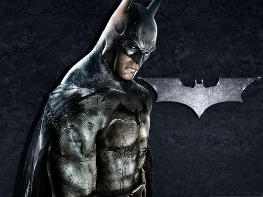 click to free download the wallpaper--HD Movie Posters, The Batman and His Logo