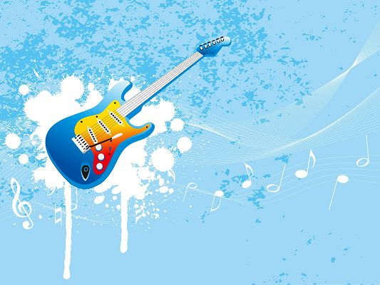 HD Wallpaper Background - Blue Guitar, Great Musical Instrument