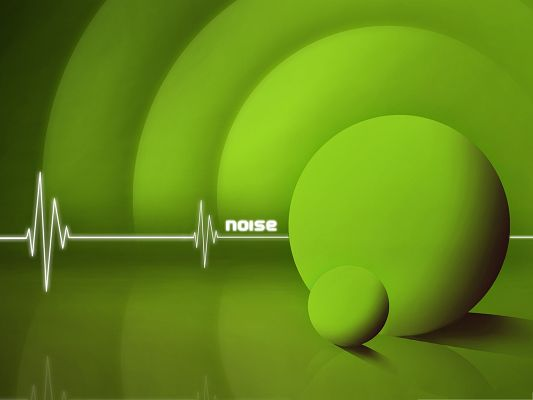 click to free download the wallpaper--HD Wallpaper Background - Noise Green, Nice Ripples, Various-Sized Balls