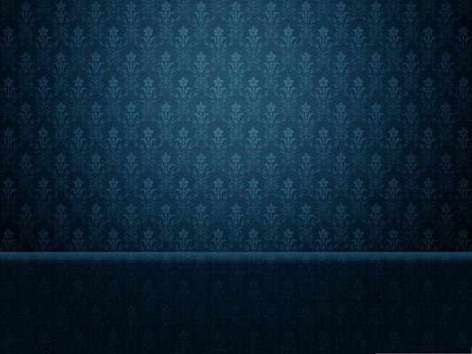 click to free download the wallpaper--HD Wallpaper Desktop - Baroque Blue Background