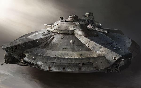 click to free download the wallpaper--HD Widescreen Wallpaper, Armored Flying Ship, Super Weapon