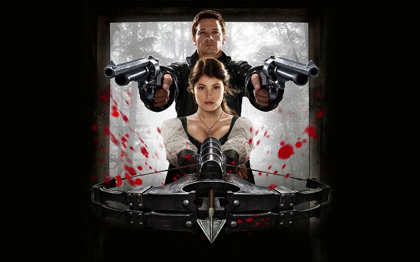 click to free download the wallpaper--Hansel and Gretel Witch Hunters in 1920x1200 Pixel, Flying Blood All over the Screen, a Severe Fight is to Break out - TV & Movies Wallpaper