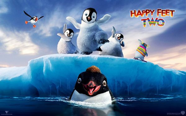 click to free download the wallpaper--Happy Feet Two Available in 1920x1200 Pixel, the Guys Are All Cute and Happy, Can Bring the Viewers the Same Mood - TV & Movies Wallpaper