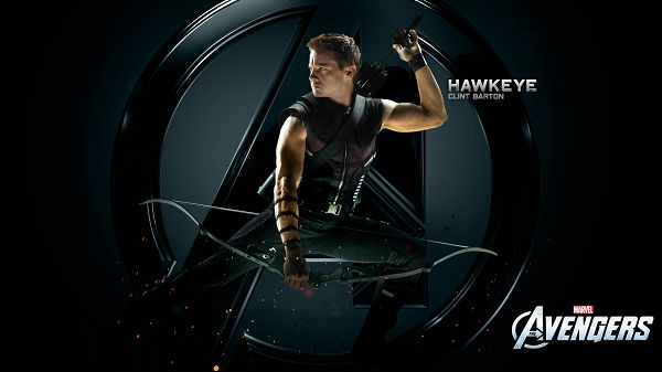click to free download the wallpaper--Hawkeye Clint Barton in 1920x1080 Pixel, Arrow in Hand and in Typical Pose, He Can Make a Shot at Any Moment, Watch Your Safety Out - TV & Movies Wallpaper