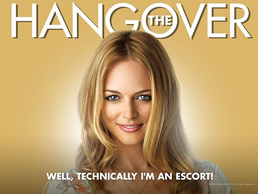 click to free download the wallpaper--Heather Graham Post in The Hangover in 1600x1200 Pixel, Girl in Blonde Hair and Smiling, Beauty Shall Strike Quite an Impression - TV & Movies Post