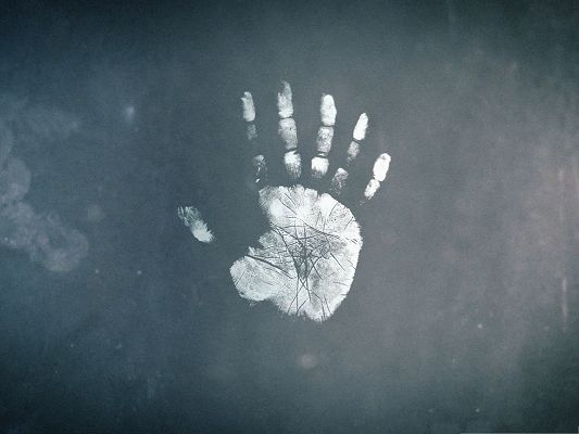 click to free download the wallpaper--High Quality Wallpaper Background - Handprint in a Realistic Way
