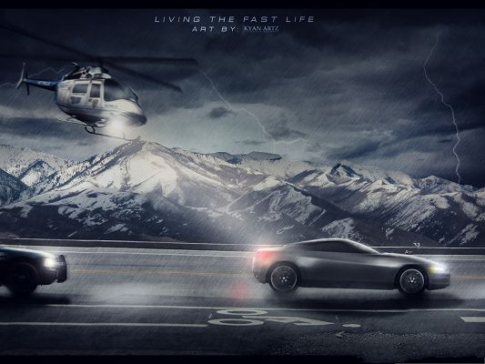 click to free download the wallpaper--High Quality Wallpaper Desktop - Car and Plane, Go to the Desired Place Fast