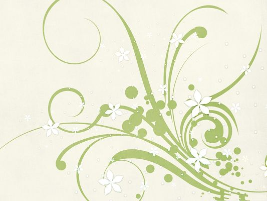 click to free download the wallpaper--High Quality Wide Wallpaper - Abstract Green Flowers, Nice and Fit