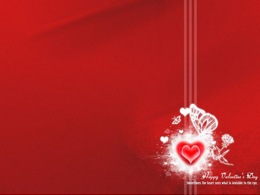 click to free download the wallpaper--Holiday Images, Valentine's Day, the Heart Does Sometimes See More Than the Eyes