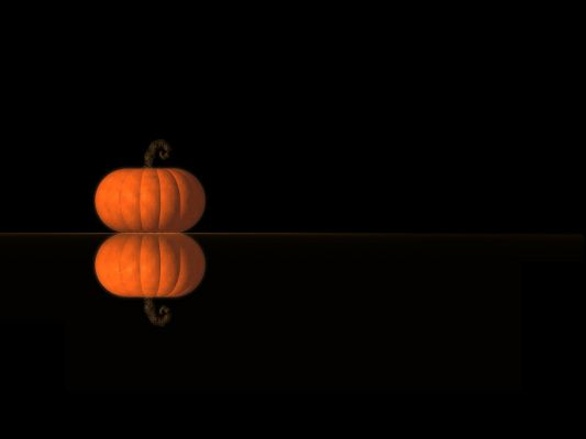 click to free download the wallpaper--Holiday Wallpaper, a Simple Pumpkin, Shall Spread Halloween's Day Atmosphere