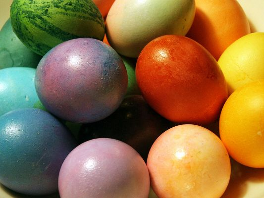 click to free download the wallpaper--Holidays Image, Colorful Easter Eggs, Shall Well Spread Holiday Atmosphere