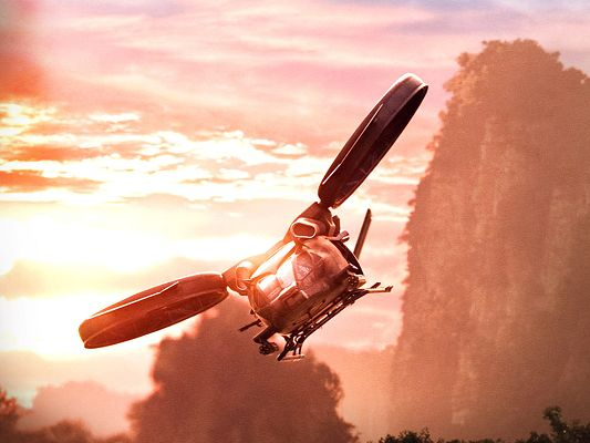 Hubschrauber Aircraft in Avatar Available in 1600x1200 Pixel, an Aeroplane Flying Alone in Sunset, It Seems Golden - TV & Movies Post