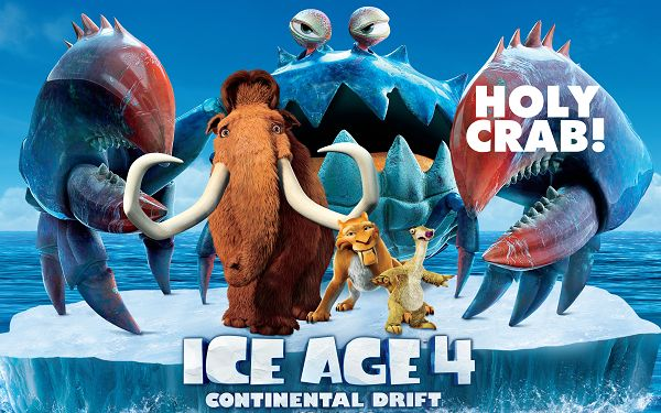 Ice Age 4 Continental Drift 2012 in 3200x2000 Pixel, Brave and Confident Animals on an Ice, Together They Will Survive - TV & Movies Wallpaper