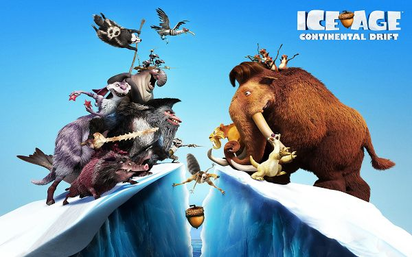 click to free download the wallpaper--Ice Age 4 Continental Drift in 2560x1600 Pixel, Ice is Breaking, Make Sure You Will Mind Your Safety Along the Way - TV & Movies Wallpaper