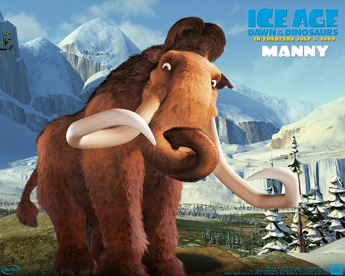 click to free download the wallpaper--Ice Age Post in 1280x1024 Pixel, Funny Facial Expression and Great Natural Scene Combined, Definitely a Fit - TV & Movies Post