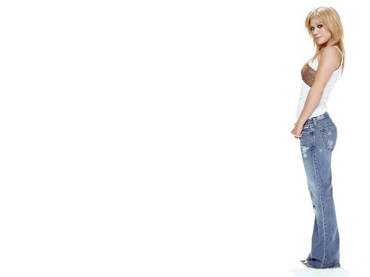 click to free download the wallpaper--Images of Beautiful Actress, Kelly Clarkson Standing Upright, Perfect