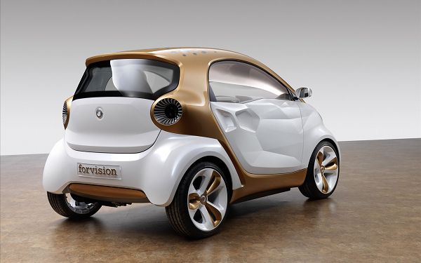 click to free download the wallpaper---In High Resolution, Cute Design and Look, a Must Have for Its Fans and Enthusiastics - Mercedes-Benz Smart Car Wallpaper