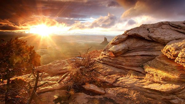 In High Resolution, Nature is Magical and Powerful, the Sun as Caretaker - Natural Scenery Wallpaper