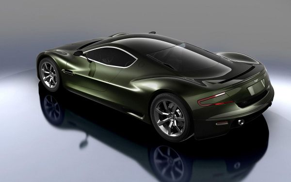 In Stop and Smooth Line, With Mirror-Like Ground, Combining an Amazing Scene - Aston Martin Car Wallpaper