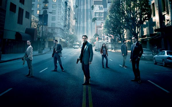 click to free download the wallpaper--Inception Cast in 2560x1600 Pixel, All Well-Equipped Guys Walking on a Road, They Must be Tough to Beat - TV & Movies Wallpaper