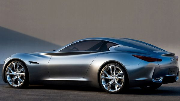 click to free download the wallpaper--Infiniti Super Concept Car, Gray Car in Smooth Lines, Nice and Incredible Look