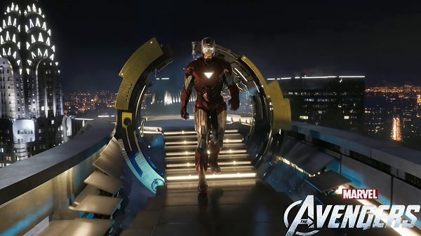 click to free download the wallpaper--Iron Man in The Avengers Movie Coming in High Quality and Resolution, Steps Are Instantly Lighted up Once He Passes Through, It is a Great Fit - TV & Movies Wallpaper