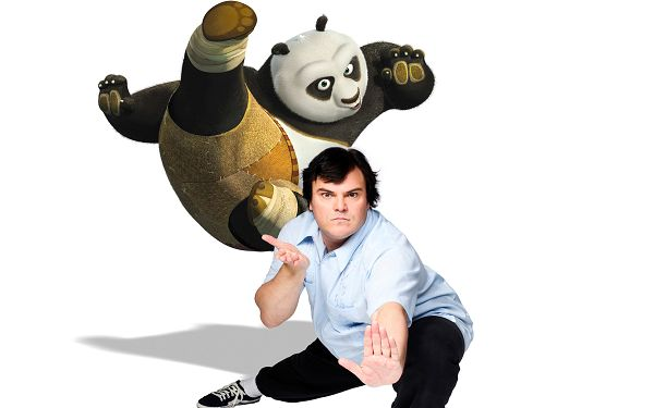 click to free download the wallpaper--Jack Black as Panda Post in 2560x1600 Pixel, Cute Cartoon Figure Compared to the Original Man, They Are Fun and Interesting to Look at - TV & Movies Post