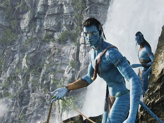 click to free download the wallpaper--Jake Sully Post in Avatar Movie in 1920x1440 Pixel, Two Tough and Determined Men, They Shall Make Something, Wait and See - TV & Movies Post