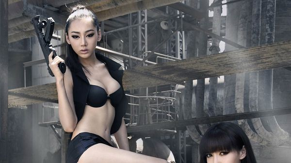 Jin Meixin Displaying Wild Beauty, She is Simple and Irresistable, is Men's Favorite - HD Sexy Model Wallpaper